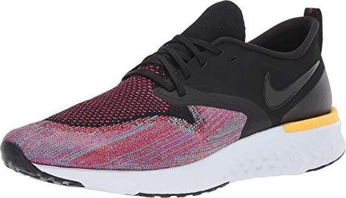 Nike Herren Odyssey React 2 Flyknit Leichtathletikschuhe, Mehrfarbig (Black/Black/University Red/Hyper Jade 5), 43 EU