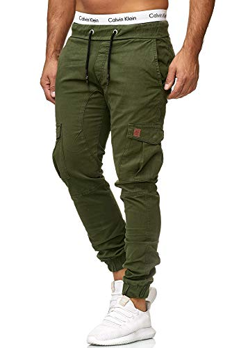 OneRedox Herren Chino Pants | Jeans | Skinny Fit | Modell 3301 Oliv 34