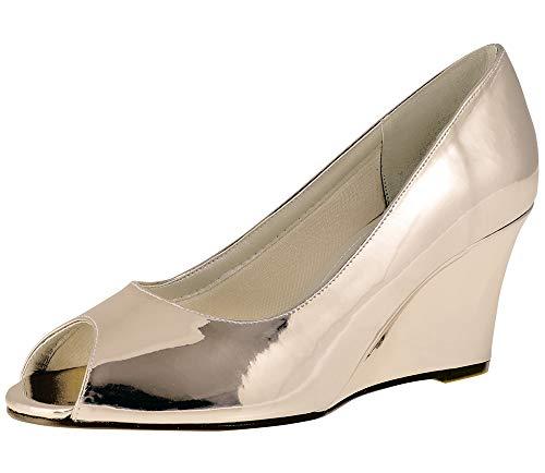 Rainbow Club Zapatos de novia Channa para mujer, zapatos de tacón acolchados,...