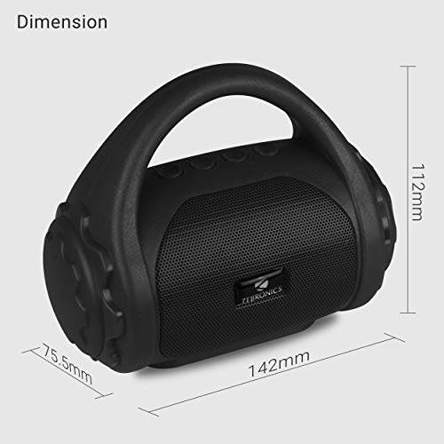 Zebronics ZEB-COUNTY Wireless Bluetooth Portable Speaker With Supporting Carry Handle, USB, SD Card, AUX, FM & Call Function. (Black)