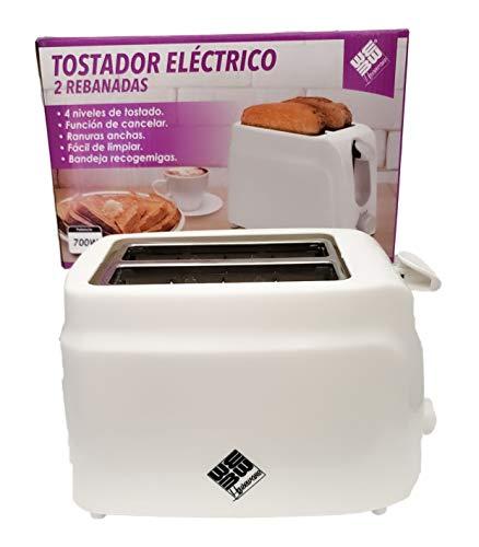Self Ideas - Tostadora de Pan eléctrica de 2 rebanadas. Tostador con...