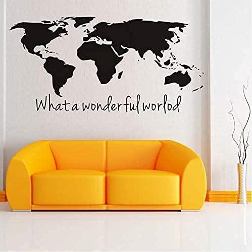 70X35 Cm What A Wonderful World Map Wall Stickers Mappa Di Grandi Dimensioni Stickers Murali In...