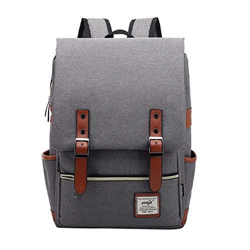 Fashion Retro Laptop Backpack Women Canvas Bag Men Canvas Travel Leisure Backpack
