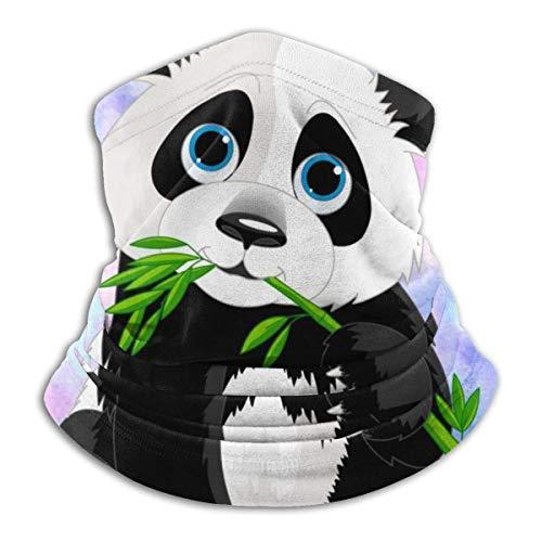 ShiHaiYunBai Tour de Cou Cagoule Microfibre Chapeaux Tube Masque Visage, Fleece Neck Scarf,Hanging Panda Outdoor Knit Headwear Wool Snow Ski Caps Face Mask,for Man