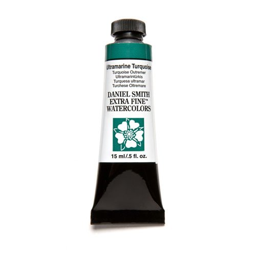 DANIEL SMITH Extra Fine Watercolor 15ml Paint Tube, Ultramarine Turquoise