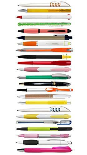 50 Kugelschreiber Kuli Kulis Stifte bunt gemischt Schreiber Druckkugelschreiber