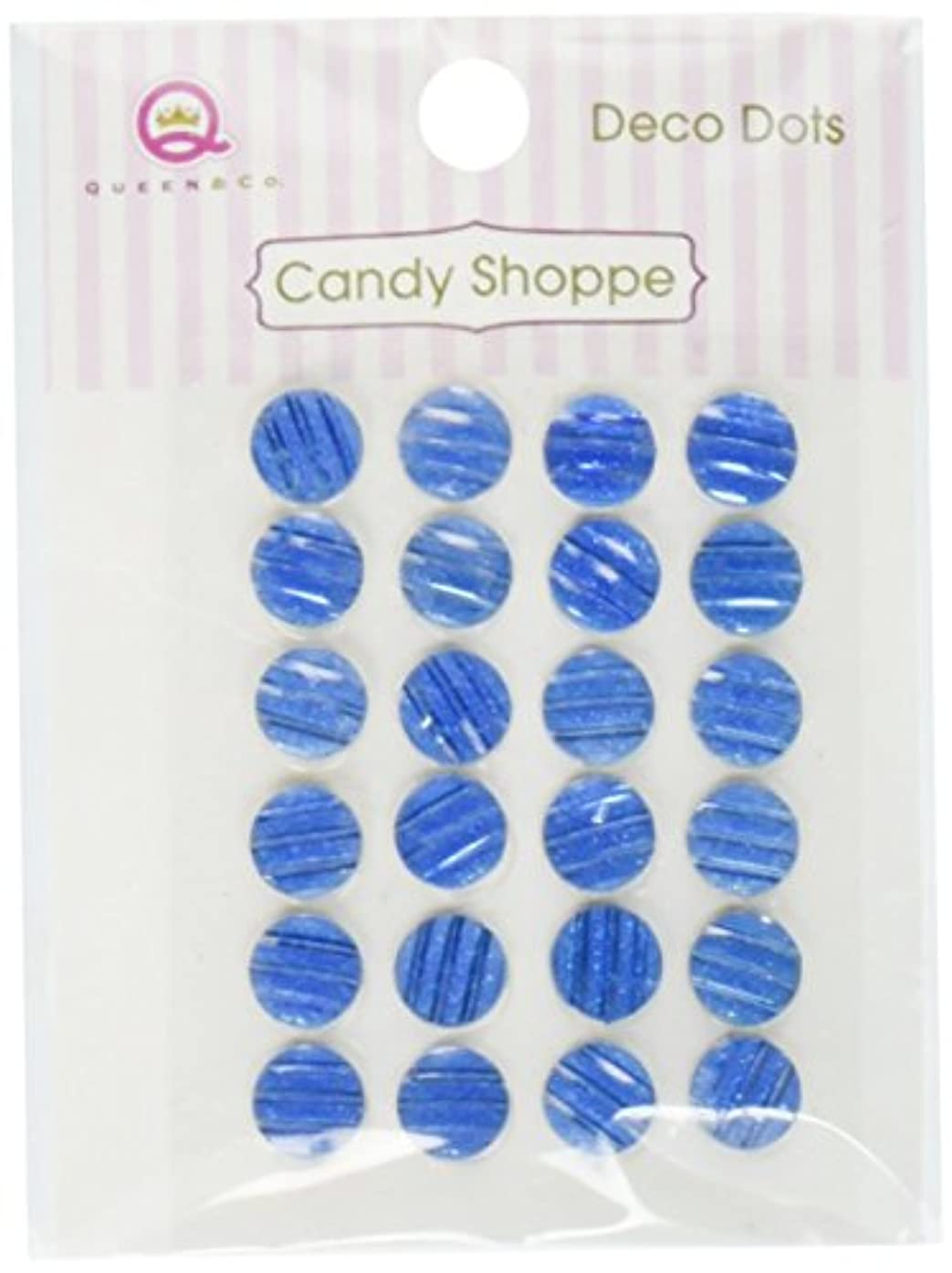 Queen Candy Shoppe Self-Adhesive Deco Dots Embellishments, 8mm, Blue
