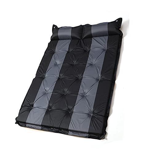 Colchoneta para dormir para tienda de campaña, Almohadilla gruesa doble para acampar al aire libre a prueba de humedad, Cojín de aire compacto con almohada, Adecuado para senderismo y mochilero