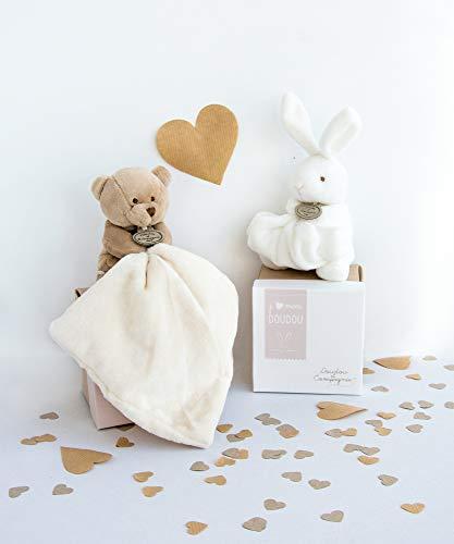 Doudou et Compagnie Lapin Mouchoir Boîte Fleur