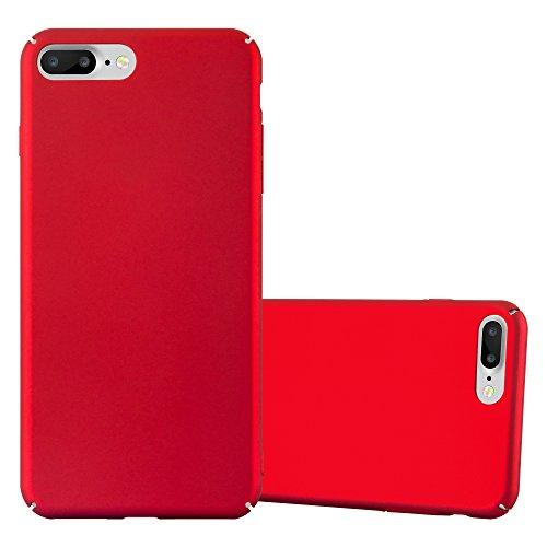 Cadorabo Custodia per Apple iPhone 8 Plus / 7 Plus / 7S Plus in Rosso Metallo - Rigida Cover Protettiva Sottile con Bordo Protezione - Back Hard Case Ultra Slim Bumper Antiurto Guscio Plastica