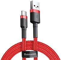 Baseus CATKLF-B09 Cafule Kablo, USB, Type-C, 3A, 1M, Kırmızı, Kırmızı