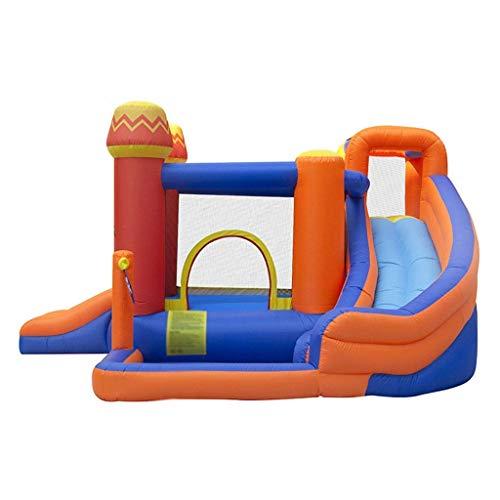 BJH Inflables Castillos hinchables Zona de Juegos para niños Hogar Juguetes inflables de Interior Circo Trampolín Adecuado