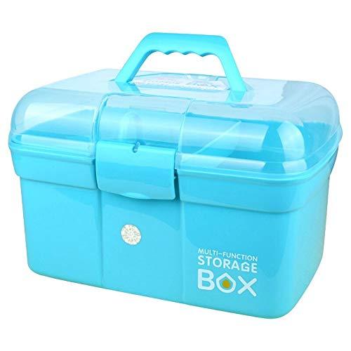N / A Medical Box Multifunktionale Aufbewahrungsbox Erste-Hilfe-Kit Medizin-Organizer mit Griff Tragbare Medizin-Truhe 29 * 18,5 * 19,5 cm
