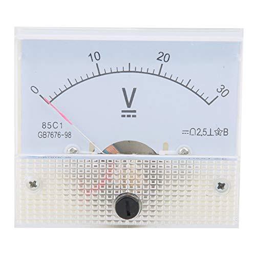 Pointer DC Voltímetro, 85C1 DC 0~30V Panel Voltímetro Medidor de voltaje Instrumento...