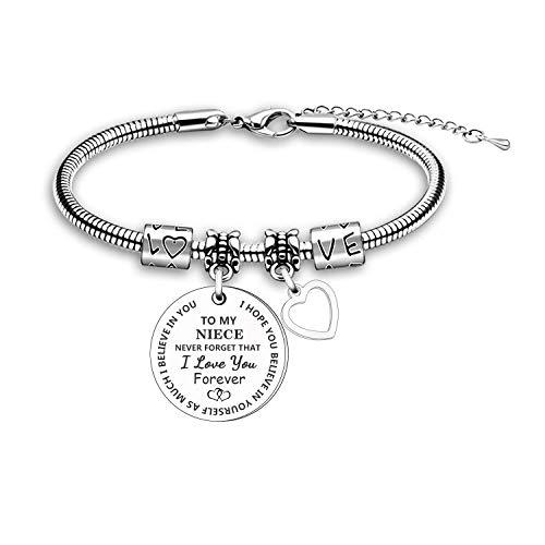 Niece Gift Inspirational Bracelet Bangle Jewellery Graduation Birthday Present for Niece