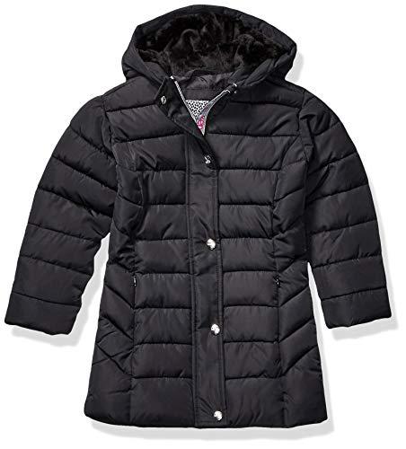 Kensie - Girl's Outerwear Girls' Little Mid Length Puffer Jacket, Black, 6X