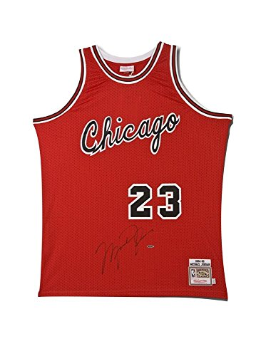 Michael Jordan Signed Chicago Bulls Mitchell & Ness Rookie Jersey - Upper Deck - Autographed NBA Jerseys