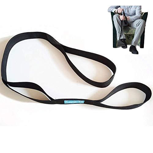 NBVCX Gesundheit Körperpflege Beinheber Gurt Starre FußschlaufeHandgriff Langbeinheber für nach Einer Hüftoperation ins Bett Hilft beim Verlassen des Rollstuhlbettes oder des Autos