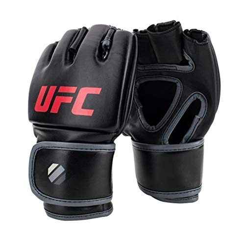 UFC Herren Contender MMA Glove 5oz Handschuhe, Black/red, S/M