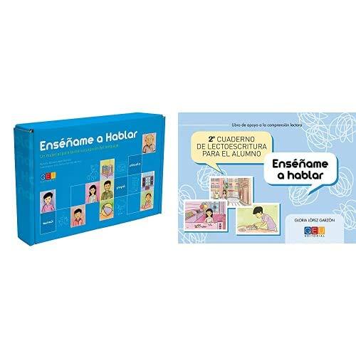 Editorial GEU /Enséñame a hablar / Aprendizaje del lenguaje / Mejora la comprensión / Con tarjetas ilustradas + Cuaderno de lectoescritura para el alumno /
