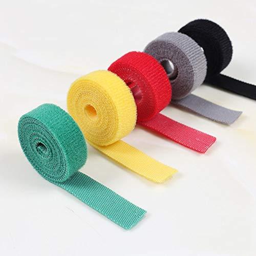 Bridas Sujetacables Cable Corbatas Reutilizables,Rollo de Velcro de Clasificación ,velcro de doble...