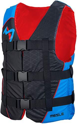 MESLE Schwimmhilfe H210, 2XS-4XL, 50-N Auftriebsweste Prallschutz Schwimmhilfe, für Erwachsene Jugendliche Kinder, Wasserski Wakeboard Impact-Vest Paddel-Weste, Farbe:blau, Größe:XXL