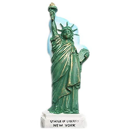 Weekinglo Souvenir Estatua de la Libertad Nueva York América EE. UU. Imán de Nevera Resina 3D Artesanía Hecha A Mano Turista Viaje Ciudad Recuerdo Colección Carta Refrigerador Etiqueta