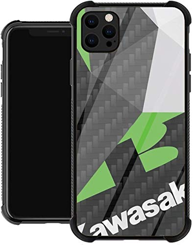 GWOKWAI BuonLucky Engine Tumblr Logo Fractals Kawasaki Emblem Motorcycle Glass Phone Case Cover for iPhone 12/12 PRO Max Mini iPhone 11 11 PRO Max XR X/XS iPhone 7/8 / SE 2020 7/8 Plus 6 6s 6/6s Plus