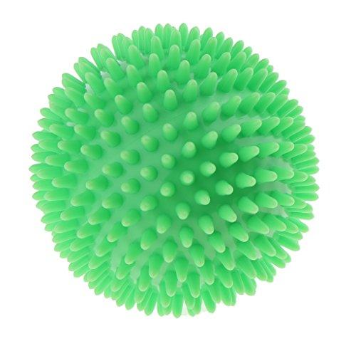 Preisvergleich Produktbild Sharplace Massageball mit Noppen Durchmesser 100mm für Reflexzonenmassage Massagekugel Massagebälle - Grün