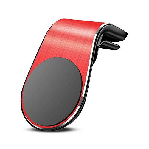QL Rojo Soporte del soporte del automóvil magnético METAL METAL PARA TODOS LOS TELÉFONO DE AIR DE AIR DE AIR DE TELÉFONO INTELIGENTE en el soporte del montaje del coche GPS