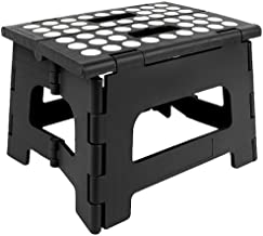 KIKKERLAND KKZZ12-BK Rhino Folding Step Stool Black