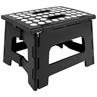 Kikkerland Rhino II Step Stool, Black