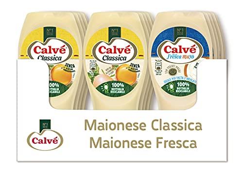 Calvè Cassa Mista Maionese: 10 pezzi di Maionese classica da 250ml e 5 pezzi di Maionese Fresca Mayò da225ml