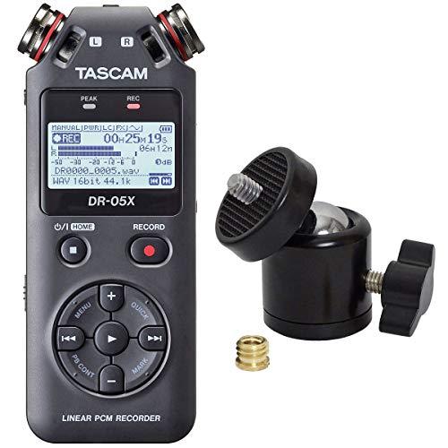 Tascam DR-05X - Registratore audio portatile + adattatore keepdrum Kugelgenk