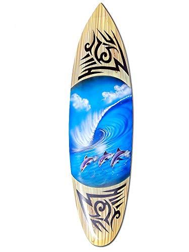 Seestern Sportswear Tabla de surf decorativa de madera, 80 c
