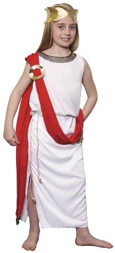 Disfraz de diosa griega romana para nios, grande, 9-12, 150 cm