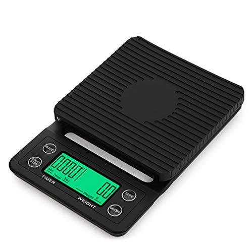 ThreeH Báscula de café multifunción Digital de Cocina para Alimentos con Temporizador de 3 kg / 0,1 g para Preparar café, Hornear y cocinar
