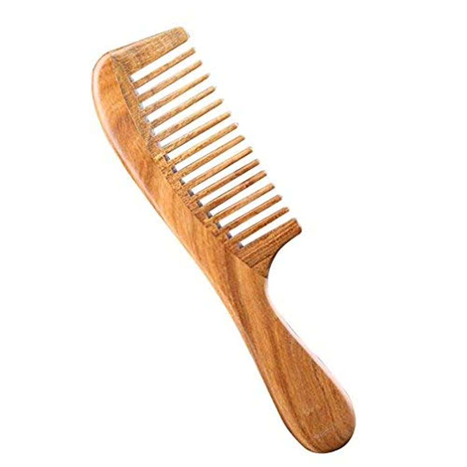 靴下ベットコミットPevor Green Sandalwood Hair Comb Anti-Static Wide-Tooth with Smooth Handle Natural Hand Made Scalp Massager Hair Care Tools Houseware Great Gift for Lady [並行輸入品]