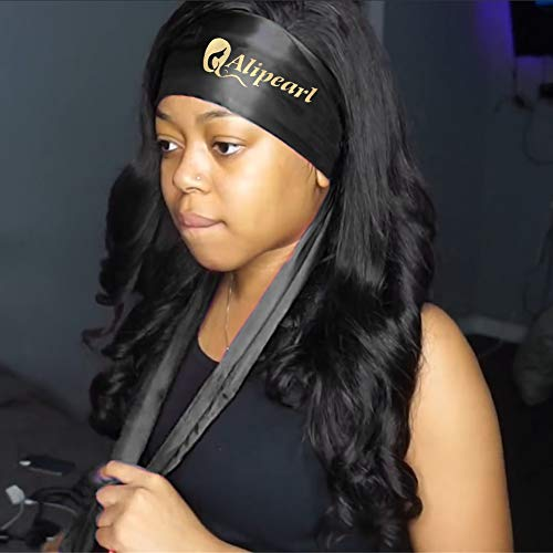 Ali Pearl Edge Wrap for Black Hair-Satin Edge Laying Scarf for Lace Frontal Wigs-Wigrip- Soft Women
