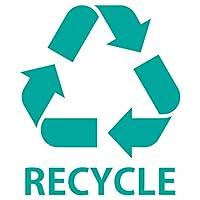 nc-smile ゴミ箱用 分別 シール ステッカー recycle リサイクル Mサイズ 80mm幅 (シーグリーン)