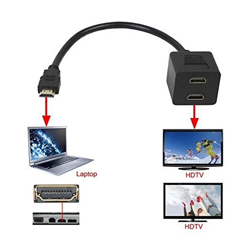 Splitter HDMI DIGIFLEX / 1 INGRESSO 2 USCITE / Da mascio a 2 x femmina / 1080p / v. 1.3 / Video / Audio / 15
