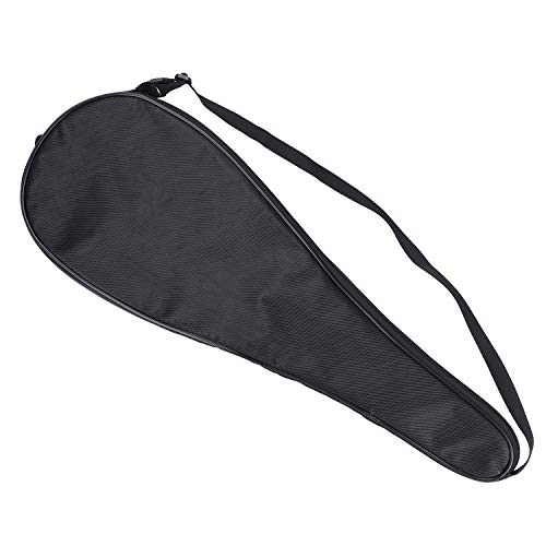 Badminton Racket Cover Bag Single Waterproof Dustproof Tennis Paddle Carry Case with Adjustable Shoulder Strap Outdoor Sports Storage Bag