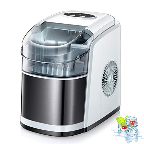 Kismile Counter top Ice Maker Machine,26Lbs/24H Compact Automatic Ice Makers,9 Cubes Ready in 6-8 Minutes,Portable Ice Cube Maker with Self-cleaning Program,Perfect for Home/Kitchen/Office/Bar (White)