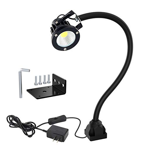 Led Machine Light Flexible IP66 Waterproof 800lumens 120V, Machine Task Light For Lathe Machine,Workbench,Industrial Lighting,Home