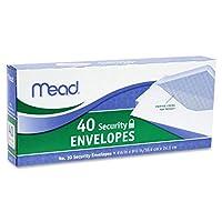 Mead # 10セキュリティ封筒、40Count (75214)、2パック= 80封筒