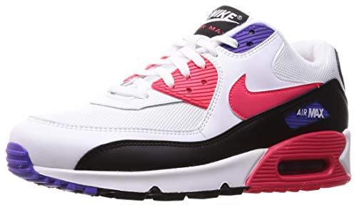 Nike Air Max 90 Essential, Chaussures de Gymnastique Homme, Blanc (White/Red Orbit/Psychic Purple/Black 106),...
