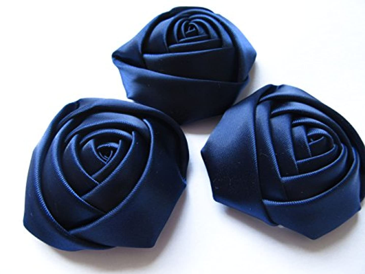 YYCRAFT Pack of 20 Satin 4d Rose Flower 2 1/2