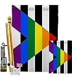 Americana Home & Garden HG148023 Aliados rectos para la igualdad inspiracional apoyo impresiones decorativo vertical casa 28' x 40' 13' 18.5' bandera de doble cara Collection Impreso en Estados Unidos