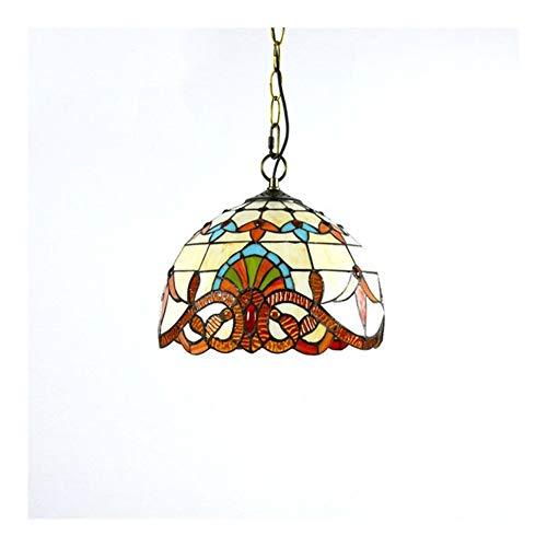 Tiffany Lamp Shade Tiffany Style Colgante Lámpara de colgante Lámpara colgante Sombra de lámpara de 12 pulgadas Lámpara de techo Lámpara Vintage estilo Hecho a mano Tiffany Techo Luz de techo para com
