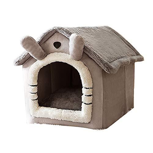 HTGL Cama Cueva para Gatos, Cama para Perros Y Gatos Mascota Cachorro Residencia Interior Residencia para Gatos Y Cachorros Al Aire Libre Cama CáLida Y Suave Cama Cueva para Mascotas